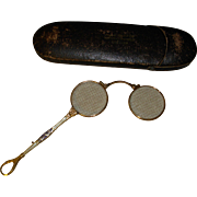 Antique Lorgnette Foldup Opera Glasses in Original Case