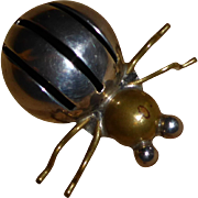 SALE Vintage Mexican Sterling Silver Spider Pin