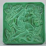 SALE Czech Ingrid Art Deco Figural Dresser Box
