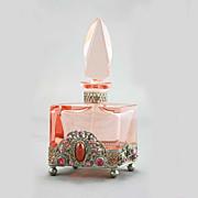 SALE Czech Jeweled Art Deco Perfume Bottle