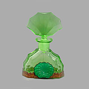 SALE Czech Art Deco Jeweled Perfume Bottle