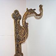 SOLD ca. 1900 Cast Brass Sconce Hanger