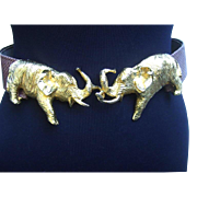 Gilt Elephant Belt by Alexis Kirk