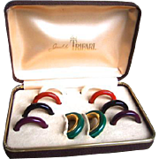 Trifari Interchangeable Hoop Earrings Set. 1970's.