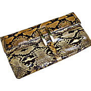 Python Handbag. Clutch/Shoulder bag. 1970's.