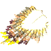 SALE Miriam Haskell Glass Bead Bib Style Necklace