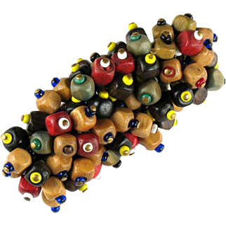 Colorful Wooden Bead Pin