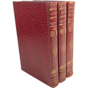 Leather Books The Rise of the Dutch Republic: A History in 3 Volumes by Lothrop Motley, 1906