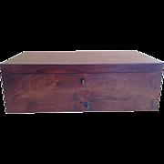 English Rosewood Box Writing Desk, Fully Fitted, Original Velvet Covers Full Length Hidden ...