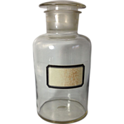 REDUCED English Apothecary Bottle, 9 1/2 inches Tall