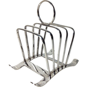 REDUCED Vintage English Silver Plate Toast Rack