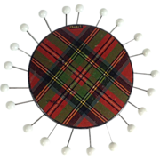 SALE Tartan Ware 'Stuart' Sewing Pin Wheel