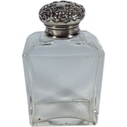 SALE 1901 English Toiletries Bottle with a Sterling Lid