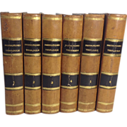 In Latin, Set of Leather Bound Books: Theological Institutions, by Antoine Bonal, Toulouse, ..