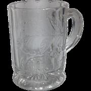 "1904 Early American  Pressed Glass ""Sweetheart"" Child's Mug"