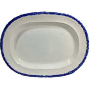 English Pearlware Feather Edge Platter