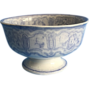 English Blue and White Compote Bowl  C. 1840-1860