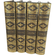 Leather Bound Set of Novels by Edward Bulwer-Lytton, 1878