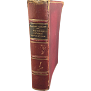 Leather Bound Book: Essays by Frances Bacon and The French Revolution by Edmund Burke, 1872