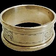 1959 English Hallmarked Napkin Ring