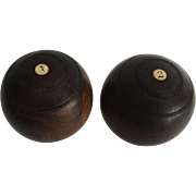 Pair of Vintage  Lawn Bowls by Taylor, Glasgow, Scotland