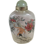 Chinese Glass Snuff Bottle with Reverse Painting