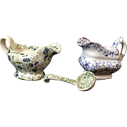 Three Children's Transfer Ware Dinnerware Items, English Victorian