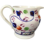 1860 Gaudy Welsh Jug Pitcher Oyster Pattern