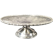 English Silver Plated Pedestal Stand   C.1950