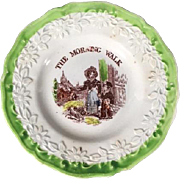 English Polychrome Children's Plate