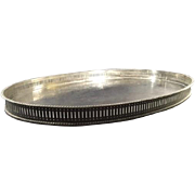 English Silver Plated on Copper Gallery Salver