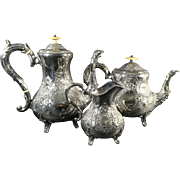 3 Piece English Silver Plated Tea Set