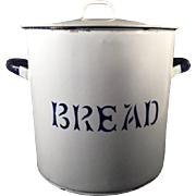 English Vintage Enamelware Bread 'Canister'