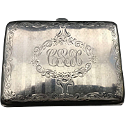 English Sterling Silver Case   C1900