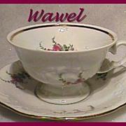 Wawel Rose Garden Cup & Saucer