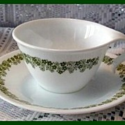 Corelle Spring Blossom Hook Handle ~ Set of 2 Cups & Saucers