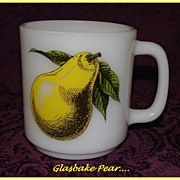 Glasbake Yellow Pear Mug