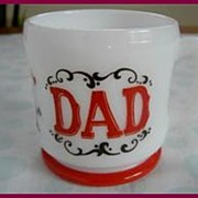 Hazel Atlas Gay Nineties DAD Shaving Mug