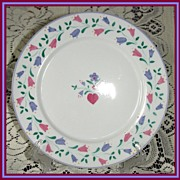 SPAL Porcelanas Pink & Blue Bell Flower Plate ~ 10 available