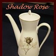 Rosenthal SHADOW ROSE --  Coffee Pot