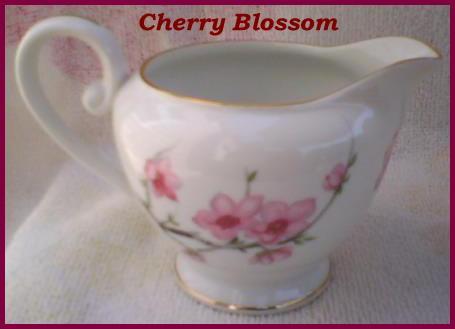 Diamond China Cherry Blossom Creamer