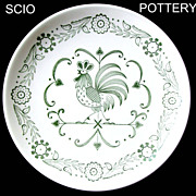 SOLD SCIO Provincial Rooster Dinner Plate