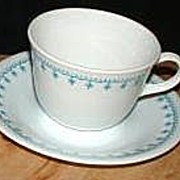 Corning Corelle Blue Garland ~ Snowflake Cup & Saucer
