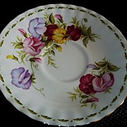 Royal Albert Flower of the Month Sweet Pea Orphan Saucer