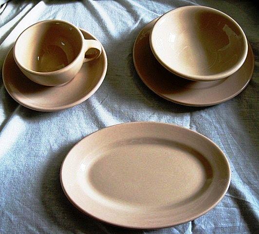Mayer China Mayan Ware 5 Piece Set Restaurantware Tan
