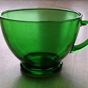 Anchor Hocking Forest Green Punch / Snack Cup Set
