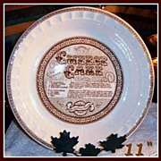 Royal China Country Harvest Cheese Cake Baker