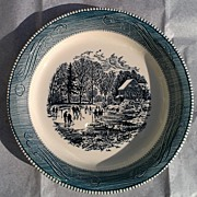 Royal China Currier & Ives Full / Early Winter Pie Plate