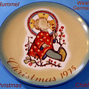 Hummel Christmas Child 1975 Plate