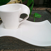 Villeroy & Boch New Wave Caffe Espresso Service for Two